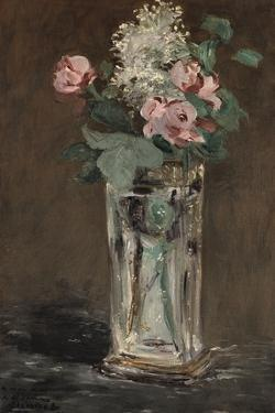 Flowers in a Crystal Vase by Edouard Manet