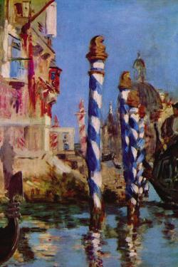 Grand Canal In Venice by Edouard Manet