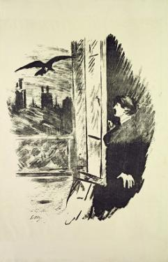 Illustration for 'The Raven', by Edgar Allen Poe, 1875 by Edouard Manet