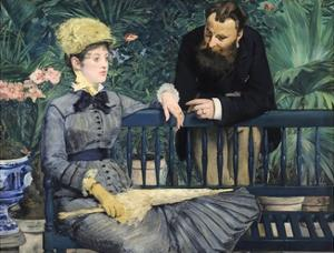 In the Conservatory by Edouard Manet