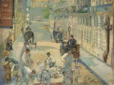 'Les Paveurs de la Rue de Berne', 1878 by Edouard Manet