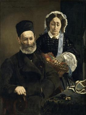 Monsieur and Madame Auguste Manet by Edouard Manet