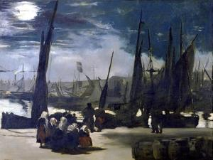 Moonlight over the Port of Boulogne, 1869 by Edouard Manet