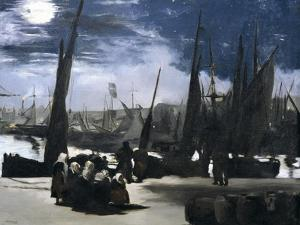 Moonlight over the Port of Boulogne by Edouard Manet