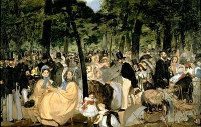 Music in the Tuileries Gardens, 1862 by Edouard Manet
