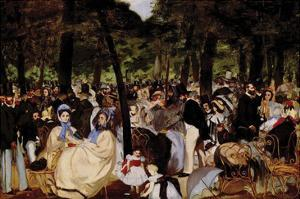 Music in Tuilerie Garden by Edouard Manet