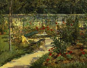 My Garden. the Bench, 1883 by Edouard Manet