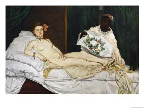 Olympia, 1863-1865 by Edouard Manet