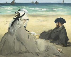 On the Beach, 1873 by Edouard Manet