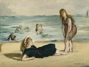 On the Beach, c.1868 by Edouard Manet