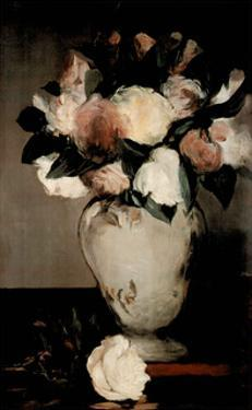 Edouard Manet Peonies Flower vase Art Print POSTER