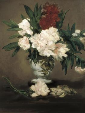 Peonies in a Vase by Edouard Manet