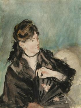 Portrait of Berthe Morisot, 1873-74 by Edouard Manet