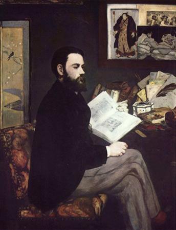Edouard Manet (Portrait of Émile Zola) Art Poster Print