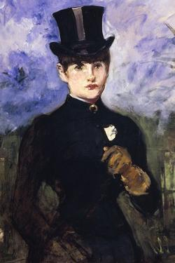 Portrait of Horsewoman by Edouard Manet
