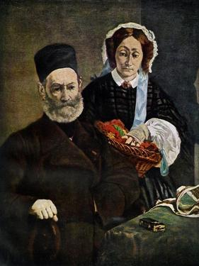 Portrait of Monsieur and Madame Auguste Manet, 1860 by Edouard Manet