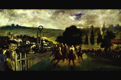 Race At Longchamp By Edouard Manet by Edouard Manet