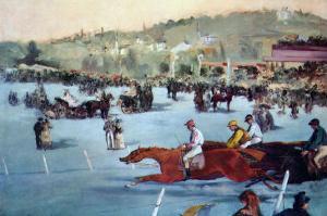 Races At The Bois De Boulogne by Edouard Manet