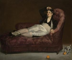 Reclining Young Woman in Spanish Costume, 1862-63 by Edouard Manet
