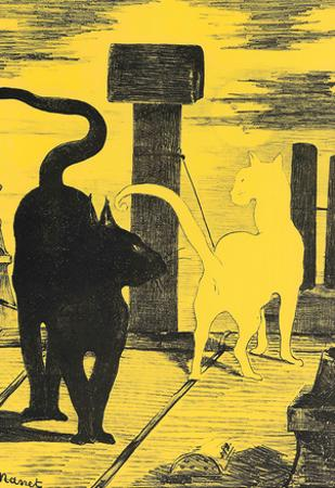 Edouard Manet Rendevouz of Cats Art Print Poster
