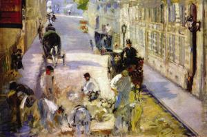Road Workers, Rue De Berne by Edouard Manet