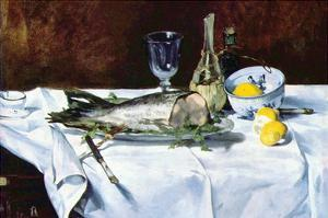 Still Life with Salmon by Edouard Manet