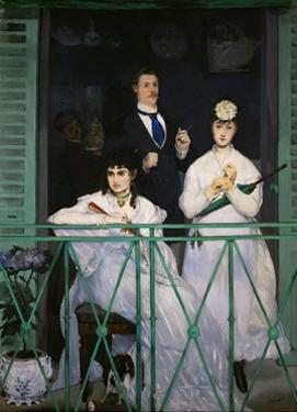 The Balcony. Painting shows painter Berthe Morisot, 1868-69 by Edouard Manet