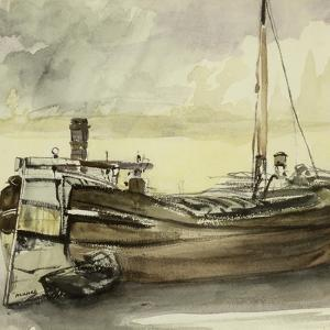 The Barge by Edouard Manet