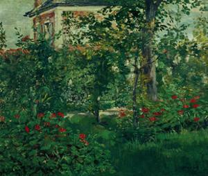 The Bellevue garden, 1880. Manet spent the last summers of his life outside Paris in Bellevue. by EDOUARD MANET