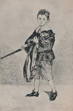 'The Boy with the Sword', 1862, (1946) by Edouard Manet