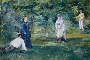 The Croquet Party by Edouard Manet by Edouard Manet