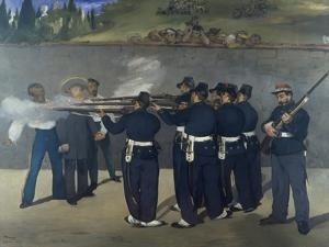 The Execution of Emperor Maximilian of Mexico 1867 by Edouard Manet