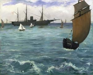 The 'Kearsarge' at Boulogne by Edouard Manet
