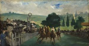 The Races at Longchamp, 1866 by Edouard Manet