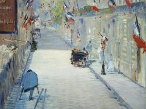 The Rue Mosnier in Paris Decorated with Flags, 1878 by Edouard Manet