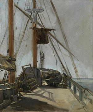The Ship's Deck, c. 1860 by Edouard Manet