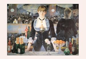 Un Bar Aux Folies Bergeres by Edouard Manet