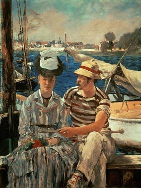 Un Dimanche sur la Seine (Argenteuil) (1874). by Edouard Manet