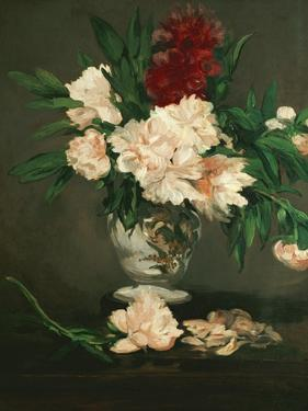 Vase with Peonies on a Pedestal, 1864 by Edouard Manet