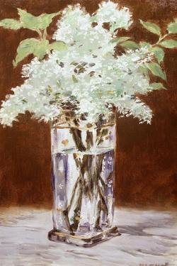 White Lilac in a Crystal Vase, 1882 by Edouard Manet