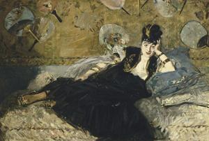 Woman with Fans, 1873 by Edouard Manet