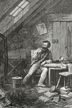 Dans Le Grenier, 19th Century by Édouard Riou