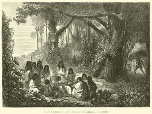 Halt of a Party of Antis Indians at the Entrance of a Forest by Édouard Riou