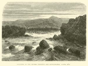 Junction of the Rivers Yanatili and Quillabamba Santa Ana by Édouard Riou