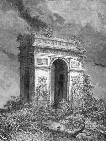 L'Arc De Triomphe as a Ruin, 19th Century by Édouard Riou