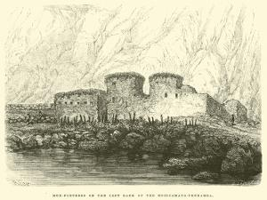 Mud-Fortress on the Left Bank of the Huilcamayo-Urubamba by Édouard Riou