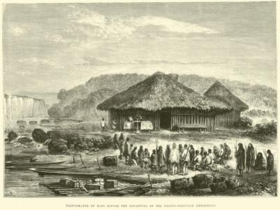 Performance of Mass before the Departure of the Franco-Peruvian Expedition by Édouard Riou