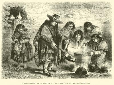 Preparation of a Supper at the Station of Aguas-Calientes by Édouard Riou