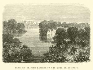 Remansos or Calm Reaches of the River at Huinpuyu by Édouard Riou