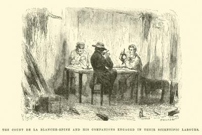 The Count De La Blanche-Epine and His Companions Engaged in their Scientific Labours by Édouard Riou